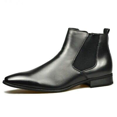 Mens Black Leather Smart Formal Casual Chelsea Boots Shoes UK SIZE 6 7 8 9 10 11