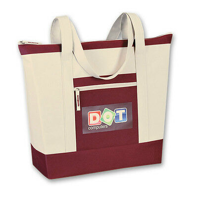 DELUXE MAUI ZIPPERED TOTES - 50 quantity - Custom Printed with Your Logo
