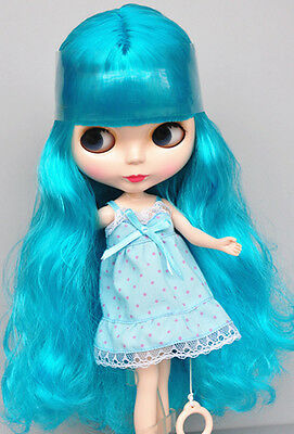 """Takara 12/"""" Neo Blythe Blue Hair Joint Body Nude Doll from Factory TBY133"""