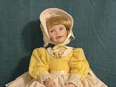 """Knowles Company """"Little Miss Muffet"""" Doll by Artist Yolanda Bello with COA"""
