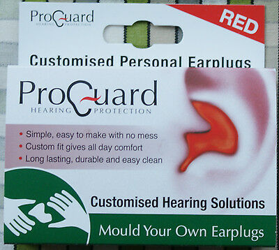 Proguard Red Mould Your Own MYO Earplugs Leather case Lanyard DJ Music Musician