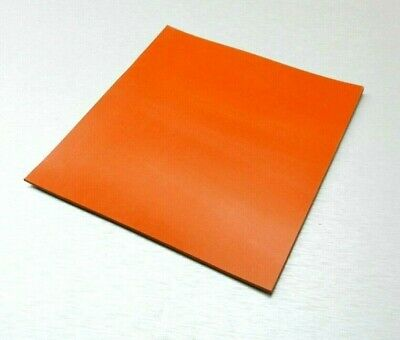 """SILICONE RUBBER SHEET HIGH TEMP SOLID RED/ORANGE COMMERCIAL GRADE 6"""" x 6"""" x 1/8"""""""