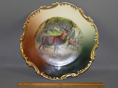 Vintage Hand Painted & Transfer Royal Munich, Z. S. & Co.bavaria Plate Stag