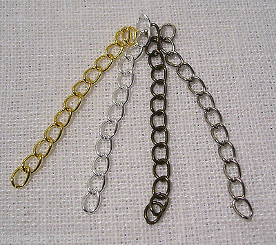 LOT (25 à 100 pcs) CHAINE CHAÎNETTE D'EXTENSION  * 3 mm x 5 cm * Rallonge Bijoux