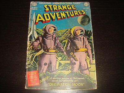 STRANGE ADVENTURES #1 Golden Age Sci-Fi DC Comics 1950 G+