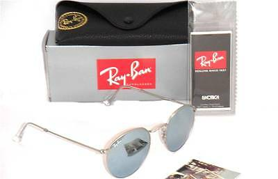 Ray-Ban RB 3447 019/30 50mm Round Matte Silver / Mirror Silver
