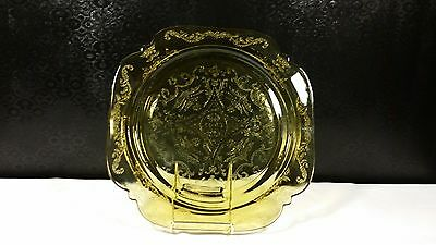 Indiana Glass Crystal Recollection-Amber Pattern Salad Plate