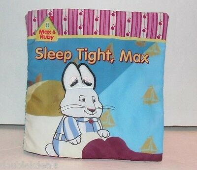 """Max And Ruby Soft Cloth Page Book """"sleep Tight, Max"""" Touch And Feel"""