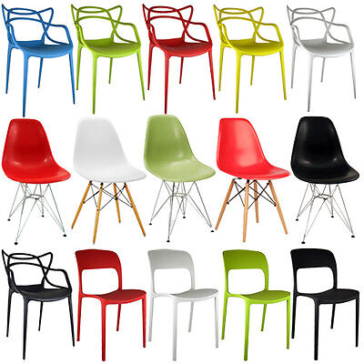 2 X Retro Chair Bar Stool Dining Lounge Kitchen Home Modern Dsr Dsw Plastic New