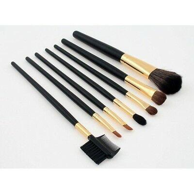 Set juego de 7 pinceles maquillaje profesionales pelo natural Makeup Brushes
