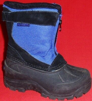 NEW Boy's Toddler's NORTHSIDE ThermoLite Leather Black/Blue Snow Winter Boots