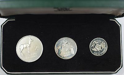 1964 Bank of Zambia Three Coin Proof Set in OGP