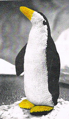 Monty the Penguin Vintage Knitting pattern (and Mabel) How to knit a penguin toy