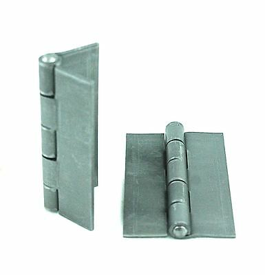 "Pair of 3 1/2"" x 2 1/4"" Weldable Steel Butt Hinges For Pedestrian Gates/Doors"