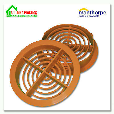 10 x 70mm CARAMEL SOFFIT ROOF AIR VENT- UPVC / Soffit Board / Eaves / DiscCircle