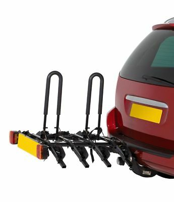 Halfords 4-Bike Tow Bar Cycle Car Rear Rack Bike Bicycle Holder Carrier Stand