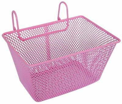 Kids Childrens Girls Metal Wire Bicycle Bike Front Basket in Pink