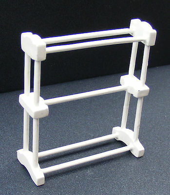 Large White Towel Rail , Bathroom  Accessory Miniatures