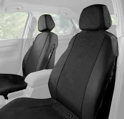 HALFORDS CAR SEAT Covers Front Pair Black Fabric Universal Protector