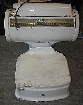 ANTIQUE PORCELAIN MEAT SCALE CINCINNATI TIME RECORDER COMPANY-WORKS!