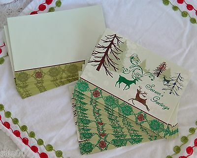 14 Unused Christmas Greeting Cards Matching Envelopes Paper Magic Group Reindeer