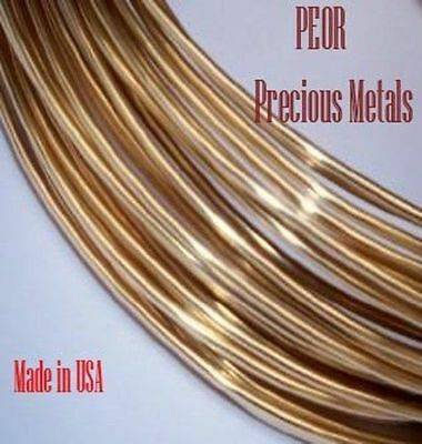 Solid 18 K Yellow Gold, Round Wire, 30 Gauge,1 Foot, Dead Soft