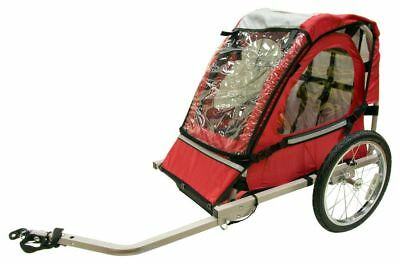 Halfords Bicycle Trailer Bike Jogger Single Buggy Seat For Baby Child Kids - Red