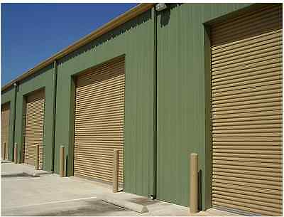 8x12 DBCI Commercial 2250 Series Insulated RollUp Door w/Hardware & Chain Hoist