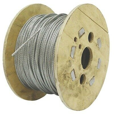 GALVANISED STEEL WIRE ROPE Metal Cable 100m Roll 3mm 4mm 5mm 6mm 8mm Galvanized