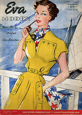 1950 Sewing Patterns & Magazine -  Includes 49 patterns on Two Sheets - Germany