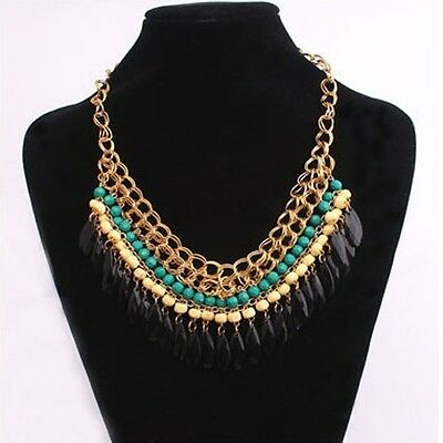 Fashion Pendant Chain Crystal Choker Chunky Statement Bib Necklace Jewelry Hot