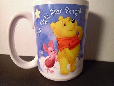 Disney POOH Cup Mug TIGGER PIGLET STAR LIGHT BRIGHT CATCH A SHOOTING STAR NEW