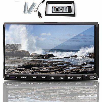 """Double 2 Din 7"""" Car DVD CD MP3 Player Touch Screen In Dash Stereo Radio HD XMAS"""