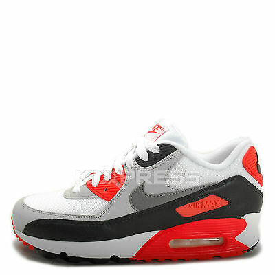Nike WMNS Air Max 90 OG [742455 100] NSW Running WhiteGrey Infrared Black
