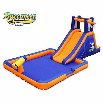 Buccaneer Inflatable Water Slide. Includes commercial material in key wear areas