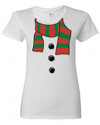 a38145b99ff14 Snowman Scarf Women's T-Shirt Funny Ugly Christmas Xmas Frosty Winter  Holiday