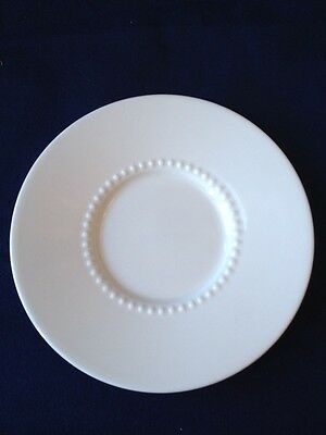 """Crate & Barrel White Pearl Porcelain Tea Saucer Plate New with Tag 5.75"""" China"""