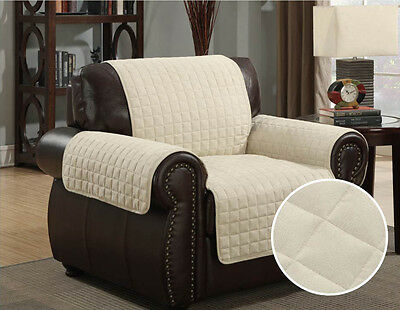 Kashi Home Micro-Suede Furniture Pet Protector Couch Sofa Love Seat Chair, Beige