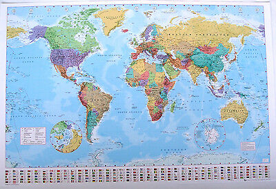 "World Map Giant Poster ""1 Meter By 1.4 Meter"" Brand New ""licensed"""