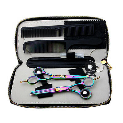 "5.5"" Pro Multi Color Salon Barber Hair Cutting Scissors Shears Hairdressing Set"