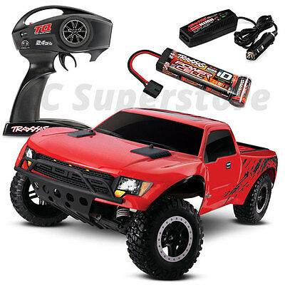 Traxxas F-150 SVT Raptor Slash 2WD RTR RC Truck w/ID Battery & Quick Charger