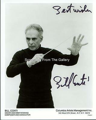 Bill Conti Hand Signed 8X10 Aa Winner Music  Composer Autographed