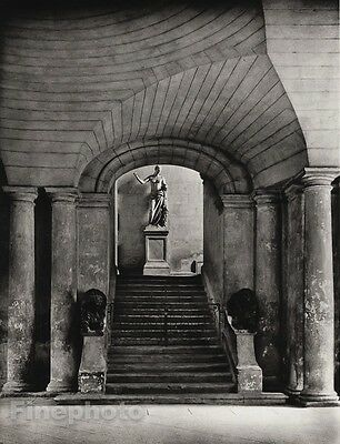 1927 Original FRANCE Arles Town Hall Statue Architecture Photo Art By HURLIMANN