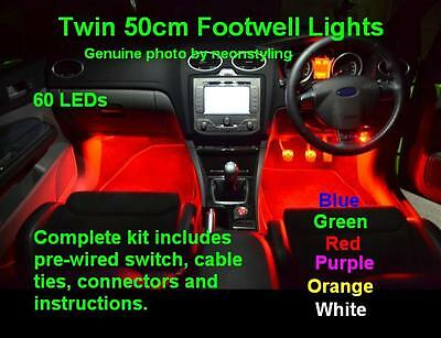 Extra Long LED neon interior Footwell lights Honda CR-Z 1.5 IMA GT I-VTEC sport