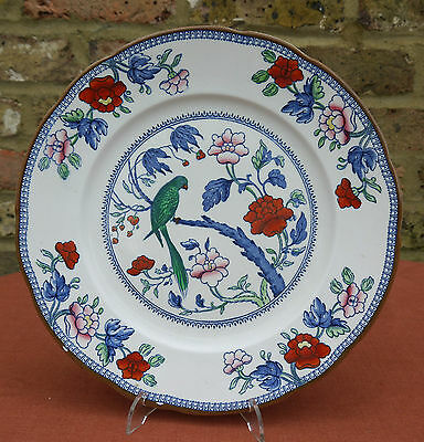 """Booths Silicon """"Green Parrot"""" 10.25"""" Plate"""