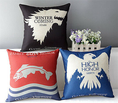 New Home Decor Pillow Cushion Cases Cover GAME OF THRONES 43*43