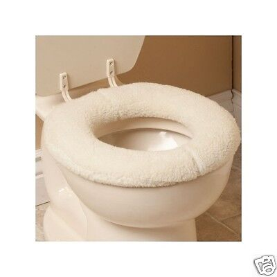 Padded Toilet Seat Cover Oversized Sherpa Bathroom Padded Comfort Cushion New