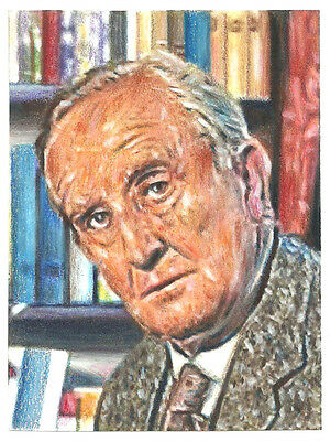 Hobbit - LOTR - Aceo - Psc- Sketch Card - J.R.R Tolkien in his study
