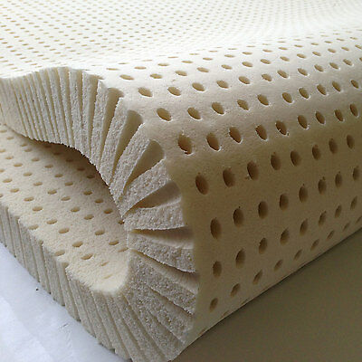 "100% Natural Latex Mattress Topper - Any Size - Any Firmness - Up to 3 "" Thick"