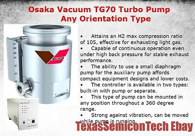 Osaka Vacuum TG70 Any Orientation Type Turbomolecular Turbo Pump - Complete Set